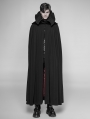 Black Gothic Vampire Count Long Cloak for Men