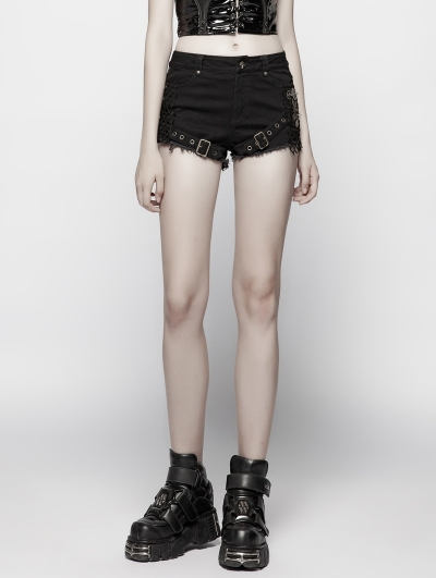Gothic Punk Steampunk Shorts for Women