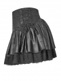 Black Steampunk Mini skirt