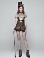 Brown Steampunk Mini skirt