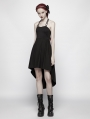 Black Gothic Punk Spine Shaped Dress