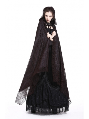 Gothic Asymmetrical Long Cape for Women