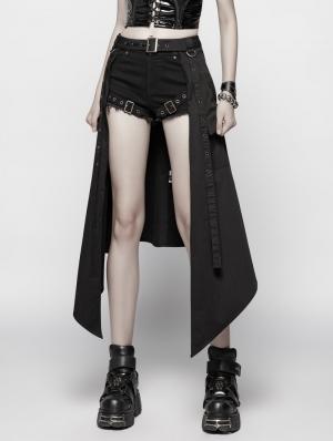 Black Gothic Punk Daily Half Skirt Accessories