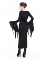 Black Sexy Gothic Witch Hooded Long Dress