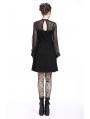 Black Gothic Punk Harness Short Dress