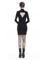 Black Sexy Gothic Short Nightclub Dress