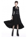 Black Gothic Punk Metal Buckle Belt Long Dress