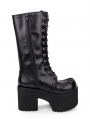 Black Gothic Platform Boots for Women
