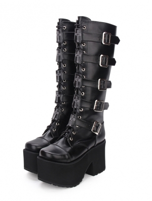 Gothic Shoes,Gothic Boots,Womens Goth Punk Shoes
