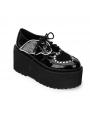 Black Gothic Bat Style Platform Shoes for Women