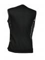 Black Sleeveless Chain Design Gothic T-Shirt for Men