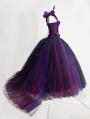Romantic One-Shoulder Gothic Corset Prom Party Long Dress