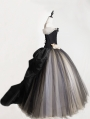Romantic Flower Vintage Gothic Victorian Cap Sleeves Corset Prom Party Long Dress