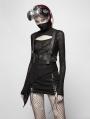 Black Gothic Punk PU Leather Vest Harness