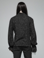 Black Decadent Gothic Printed Long Sleeves Shirt for Men