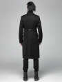 Black Vintage Gothic Tail Coat for Men