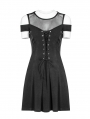 Black Gothic Off-the-Shoulder Short Casual Dress