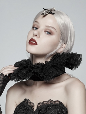 Black Gothic Victoria Lace collar