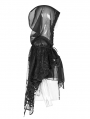 Black Gothic Lolita Small Cloak Shawl with Hood