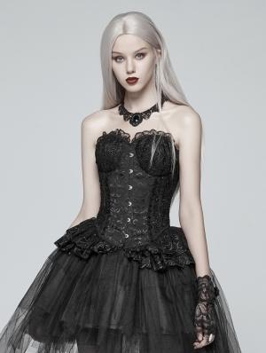 Black Gothic Lolita Lace Elf Corset