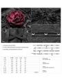 Black Gothic Jacquard Flower Overbust Corset