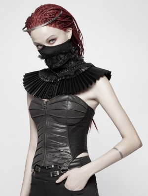 Black Gothic Dark Elizabeth Style Fake Collar