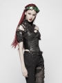 Black Gothic Punk Corset Tank Top for Women