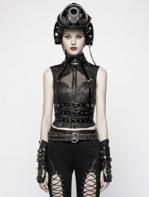 Black Gothic Punk Spine Shaped Harness