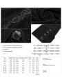 Black Gothic Lace Flocking Shirt for Men