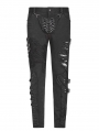 Black Gothic Punk Personality Trousers for Men