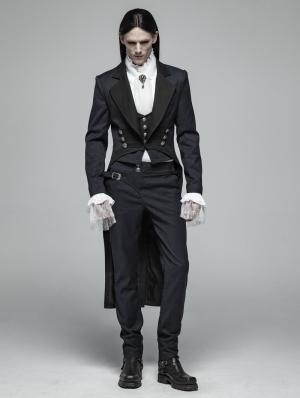Blue Vintage Gentleman Gothic Tail Coat for Men