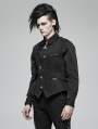 Black Gothic Simple Vest for Men