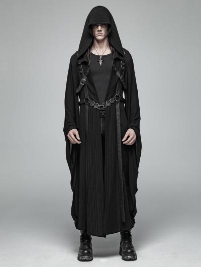 Black Gothic Dark Punk Harness Jacket for Men