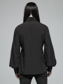 Black Vintage Gothic Daily Wear Shirt for Men