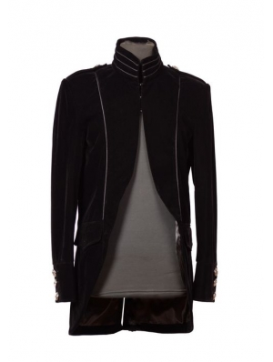 Black Long Sleeves Mens Gothic Coat