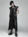 Black Gothic Punk Heavy Metal Rivet Trousers for Men