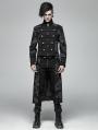 Gothic Punk Dragon Totem Detachable Coat for Men