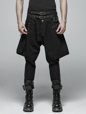 Black Gothic Steampunk Breeches for Men