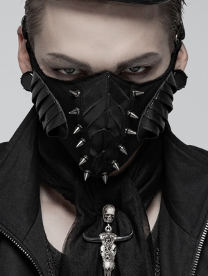 Gothic Punk Rivet Mask for Men