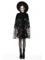 Black Gothic Star Cape/Skirt for Women