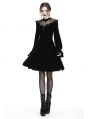 Romantic Black Gothic Cross Velvet Short Dress