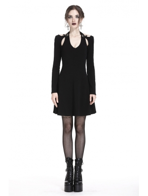 Black Gothic Punk Sexy Short dress