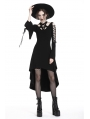Black Gothic Punk Pentagram High-Low Dress
