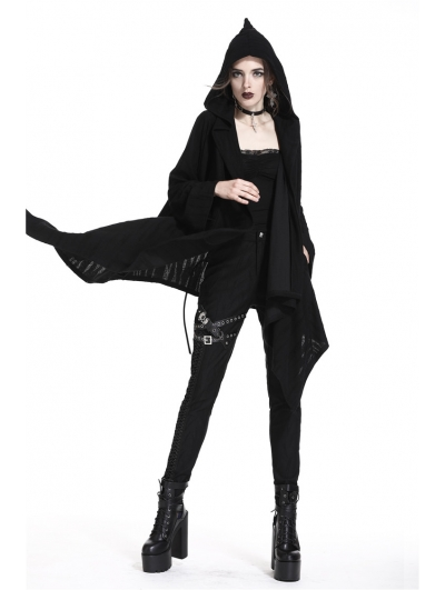 Black Gothic Punk Skull Casual Jacket for Women