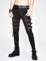 Gothic Steampunk Buckle Belt Pants for Men