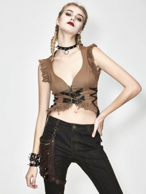 Do Old Steampunk Sexy Top for Women