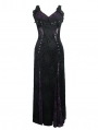 Black and Purple Sexy Gothic Lace Maxi Formal Dress