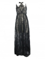 Black Romantic Sexy Gothic Lace Long Sheer Dress