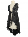 Black Romantic Sexy Gothic Lace Dress Top for Women