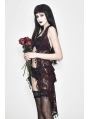 Red Romantic Sexy Gothic Lace Fringed Bra Top for Women
